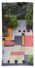 A Garden With Colourful Landscaping In Dr Bath Towel