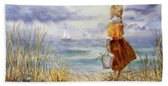A Girl And The Ocean Hand Towel