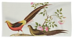 A Golden Pheasant Hand Towel by Chinese School