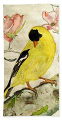 A Goldfinch Spring Hand Towel
