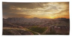 A Good Sunrise In The Badlands Hand Towel