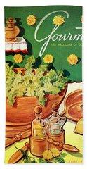 A Gourmet Cover Of Dandelion Salad Hand Towel
