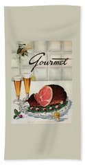 A Gourmet Cover Of Ham Bath Towel