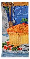A Gourmet Cover Of Pate En Croute Bath Towel