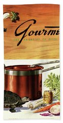 A Gourmet Cover Of Turtle Soup Ingredients Hand Towel