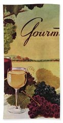 A Gourmet Cover Of Wine Hand Towel