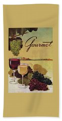 A Gourmet Cover Of Wine Bath Towel by Henry Stahlhut