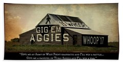 A Handful Of Aggies Bath Towel by Stephen Stookey