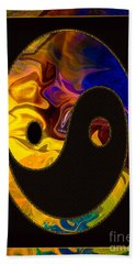 A Happy Balance Of Energies Abstract Healing Art Bath Towel
