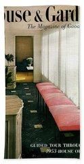 A House And Garden Cover Of A Hallway Bath Towel