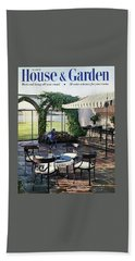 A House And Garden Cover Of A Terrace In East Hand Towel