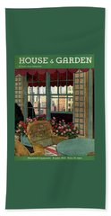A House And Garden Cover Of A Wicker Chair Bath Towel