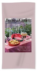 A House And Garden Cover Of Al Fresco Dining Bath Towel