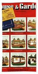 A House And Garden Cover Of Construction Stages Hand Towel
