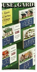 A House And Garden Cover Of Floorplans Bath Towel