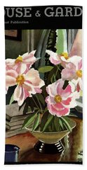 A House And Garden Cover Of Rhododendrons Bath Towel