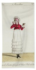 A Lady In A Levantine Hat Hand Towel