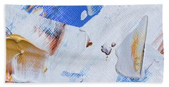 Bath Towel featuring the painting A Little Blue by Heidi Smith