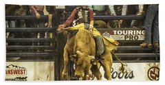 A Lot Of Bull At The National Stock Show Bath Towel