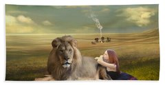 A Magnificent Friendship Hand Towel by Linda Lees