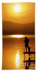 Bath Towel featuring the photograph A Man And His Thoughts  by Mike Ste Marie