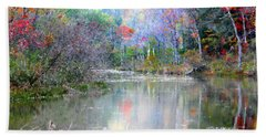 Bath Towel featuring the photograph A Monet Autumn by Mariarosa Rockefeller