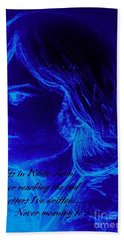 A Moody Blue Hand Towel