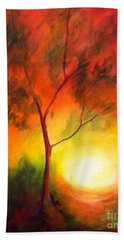 Hand Towel featuring the painting A New Day by Alison Caltrider
