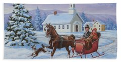 A One Horse Open Sleigh Hand Towel