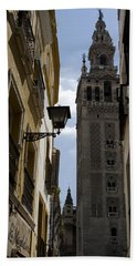 A Peak At La Giralda Bath Towel by Lorraine Devon Wilke