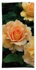 Bath Towel featuring the digital art A Perfect Orange Rose by Eva Kaufman