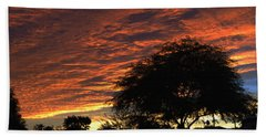 A Phoenix Sunset Bath Towel by Tom Janca