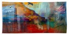 A Piece Of America Bath Towel by Randi Grace Nilsberg