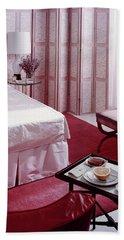 A Pink Bedroom Bath Towel