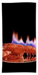 A Plate Of Lobster Flambe Bath Towel