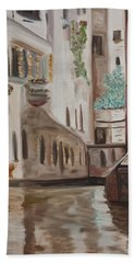 A Quiet Venice Canal Bath Towel