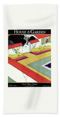 A Reflecting Pool And Garden Hand Towel