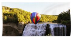 A Ride Over The Falls Hand Towel