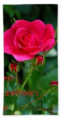A Rose For Valentine's Day Hand Towel by Mariarosa Rockefeller