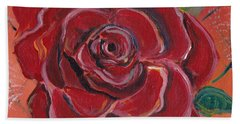A Rose Is A Rose Hand Towel by John Keaton