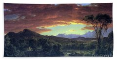 A Rural Home By Frederick Edwin Church Hand Towel