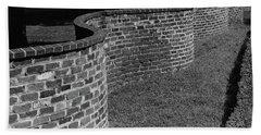A Serpentine Brick Wall Bath Towel