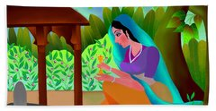 A Silent Prayer In Solitude Hand Towel by Latha Gokuldas Panicker