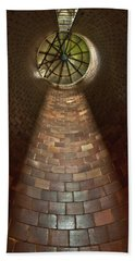 Bath Towel featuring the photograph A Silo Of Light From Above by Jerry Cowart