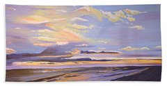 Bath Towel featuring the painting A South Facing Shore by Donna Blossom