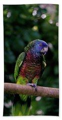 A St. Lucia Parrot. Edmund Forest Bath Towel