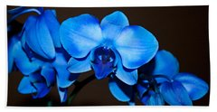 Bath Towel featuring the photograph A Stem Of Beautiful Blue Orchids by Sherry Hallemeier