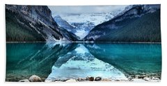A Still Day At Lake Louise Bath Towel