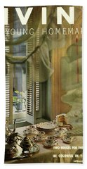 A Table Set By Community With China By Royal Bath Towel
