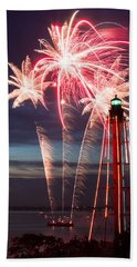 A Three Burst Salvo Of Fire For The Fourth Of July Hand Towel